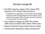 climate change bill