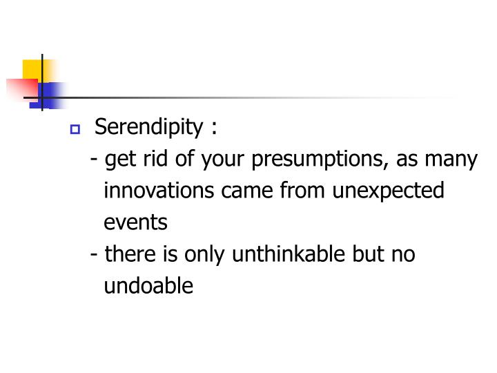 Serendipity :