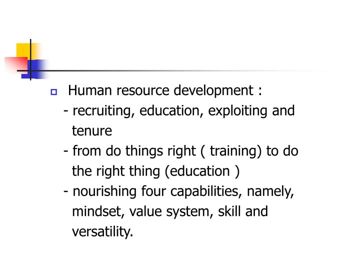 Human resource development :