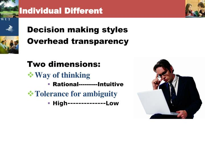 Individual Different