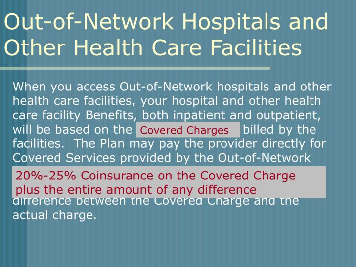 Out-of-Network Hospitals and Other Health Care Facilities