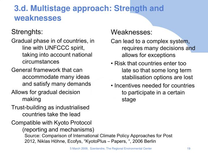 3.d. Multistage approach: Strength and weaknesses