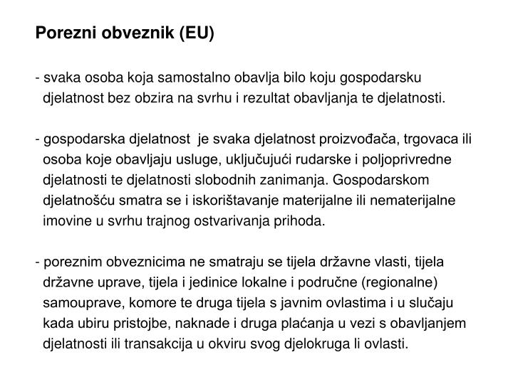 Porezni obveznik (EU)