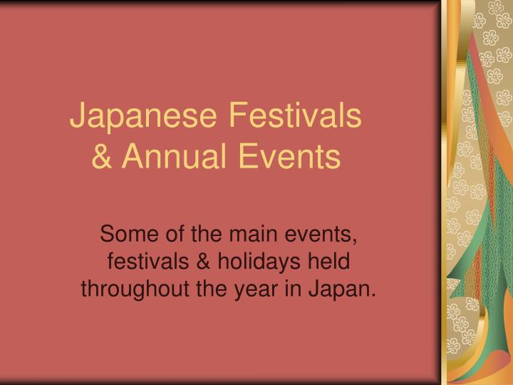 japanese festivals annual events n.