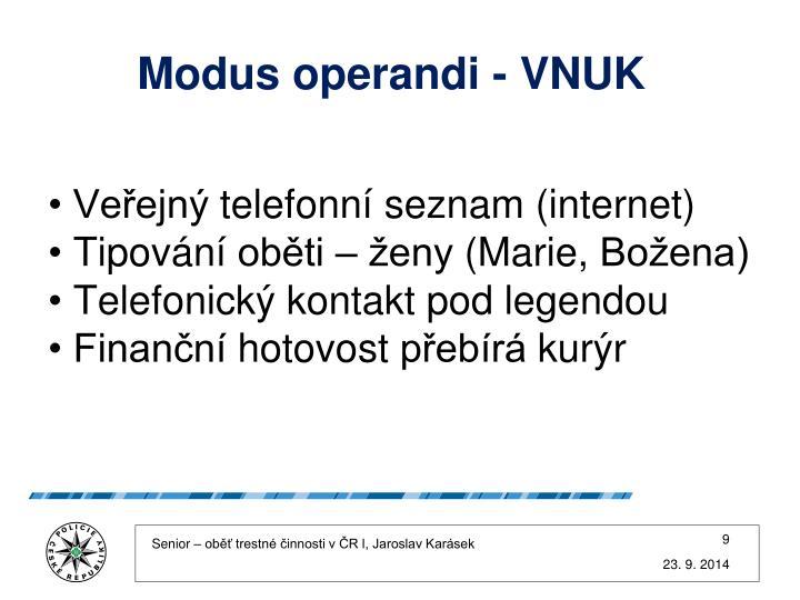 Modus operandi - VNUK