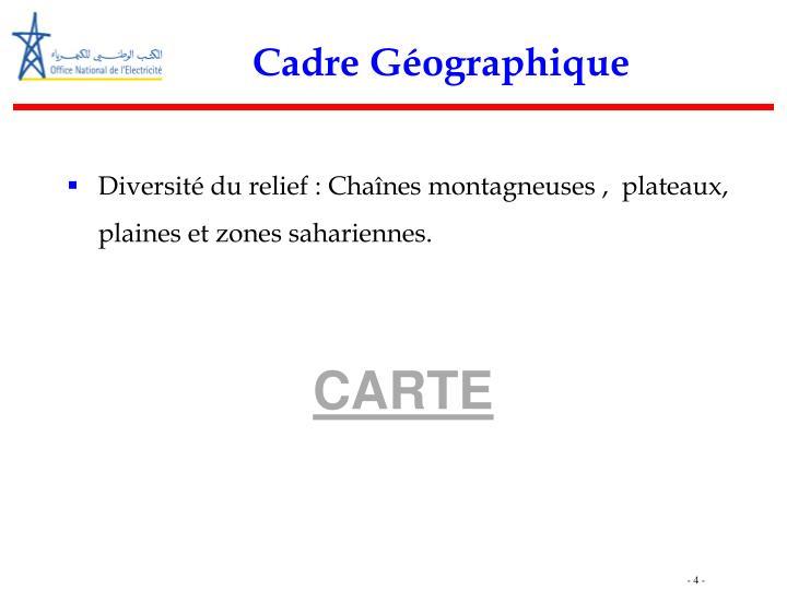Cadre Géographique