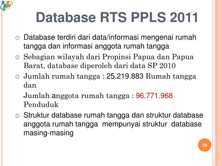 Database RTS PPLS 2011