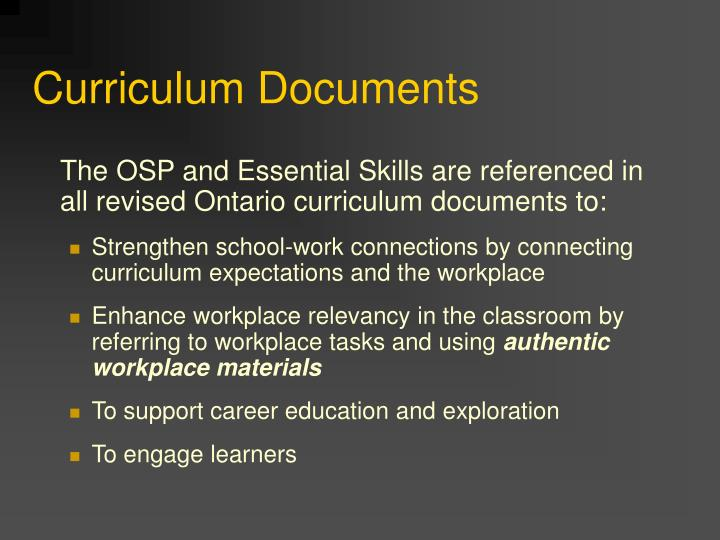 Curriculum Documents
