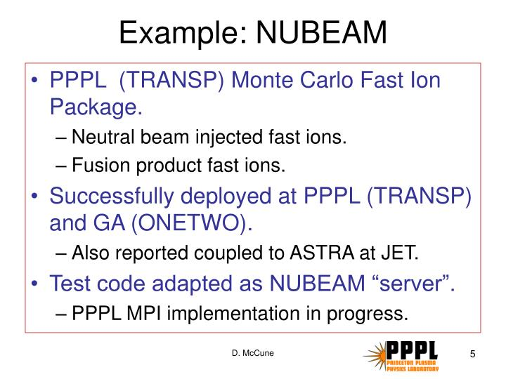 Example: NUBEAM