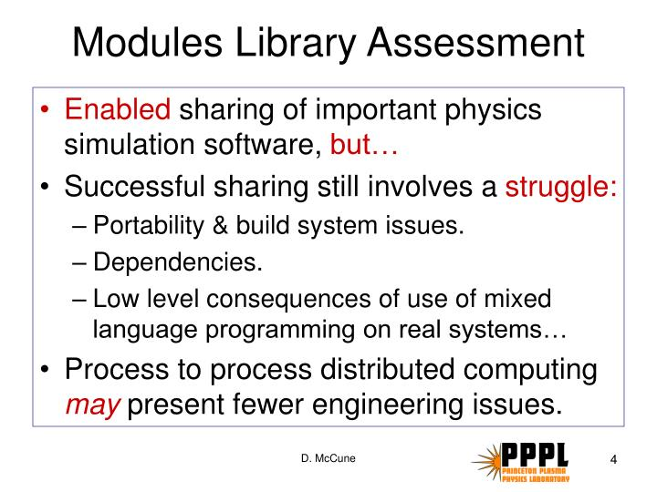 Modules Library Assessment
