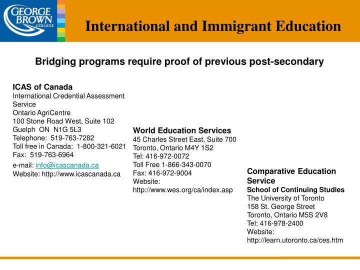 World Education Services Ontario Canada Contact Number - Best