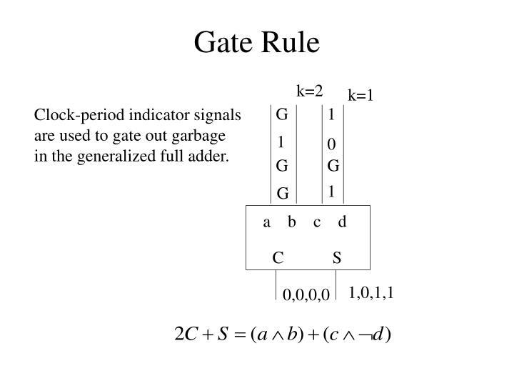 Gate Rule