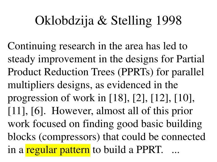 Oklobdzija & Stelling 1998
