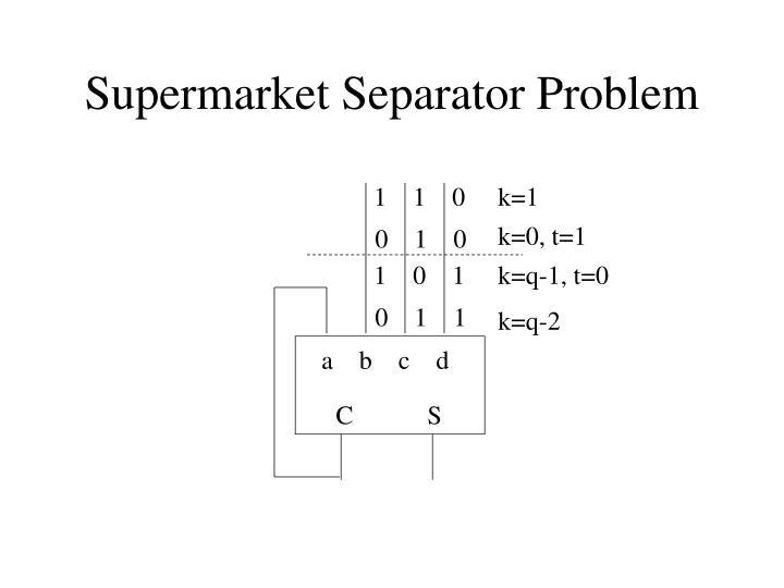 Supermarket Separator Problem
