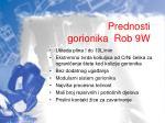 prednosti gorionika rob 9w