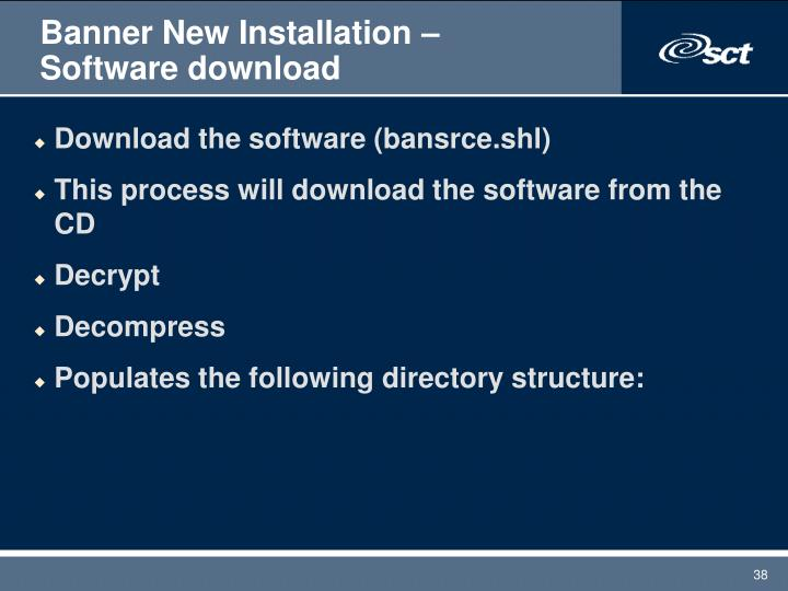 Banner New Installation – Software download