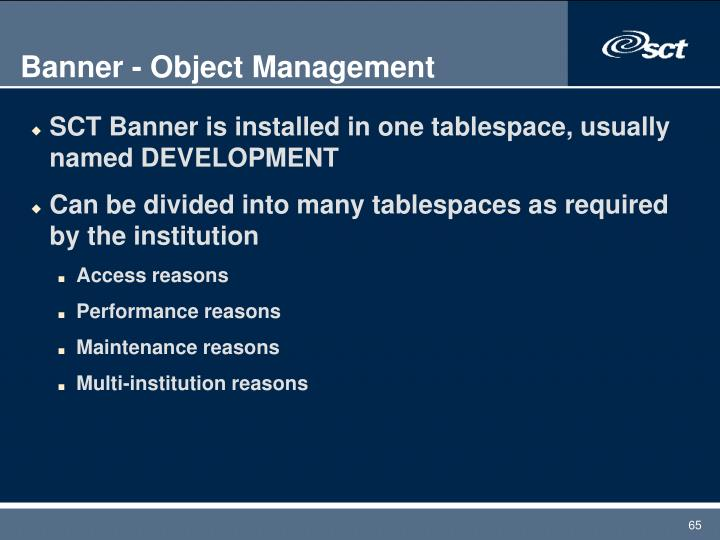 Banner - Object Management