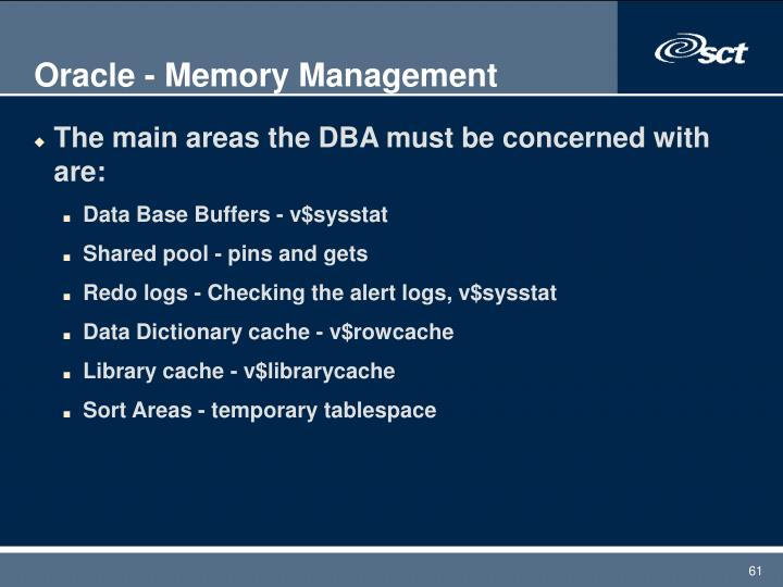 Oracle - Memory Management