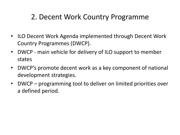 2. Decent Work Country Programme