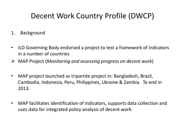 Decent Work Country Profile (DWCP)
