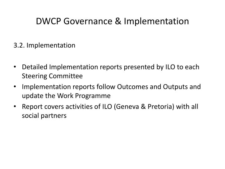 DWCP Governance & Implementation