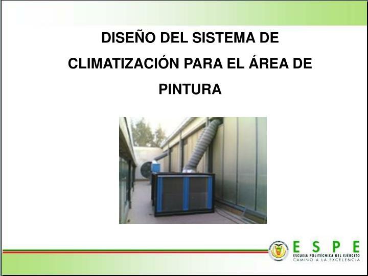 DISEÑO DEL SISTEMA DE CLIMATIZACIÓN PARA EL ÁREA DE PINTURA