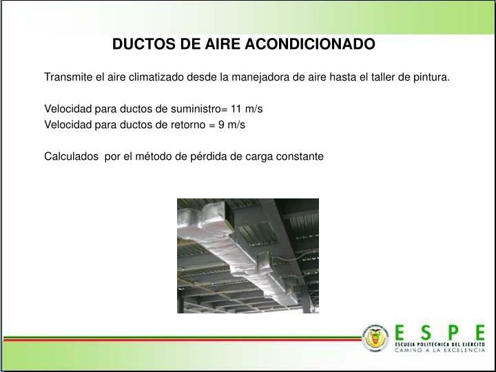 DUCTOS DE AIRE ACONDICIONADO