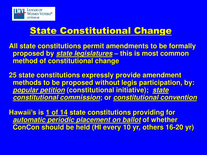 State Constitutional Change