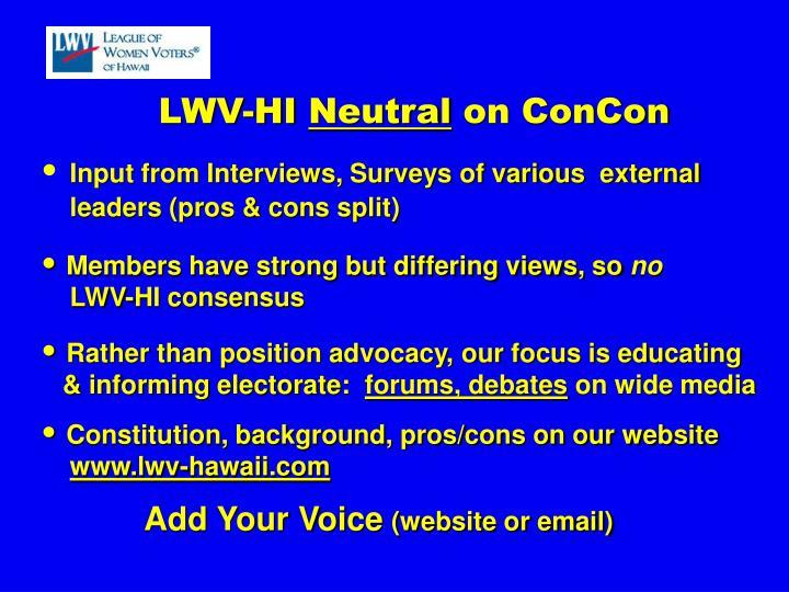 LWV-HI