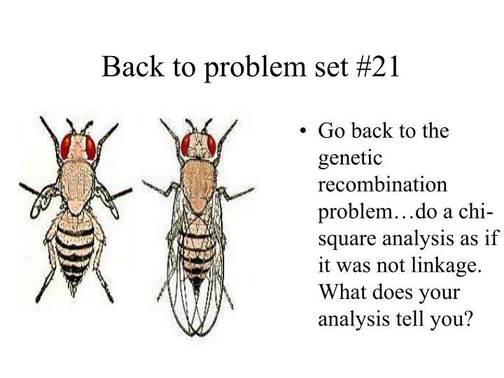 Back to problem set #21
