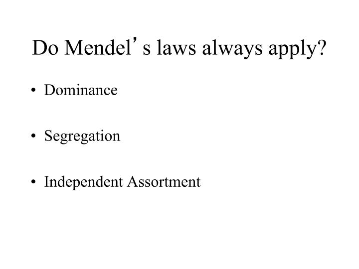 Do Mendel