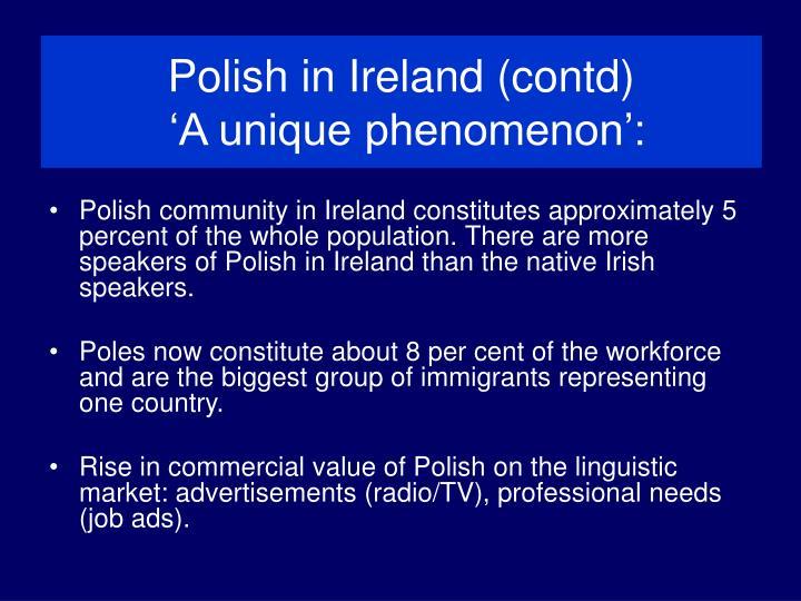 Polish in Ireland (contd)