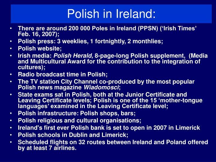 Polish in ireland