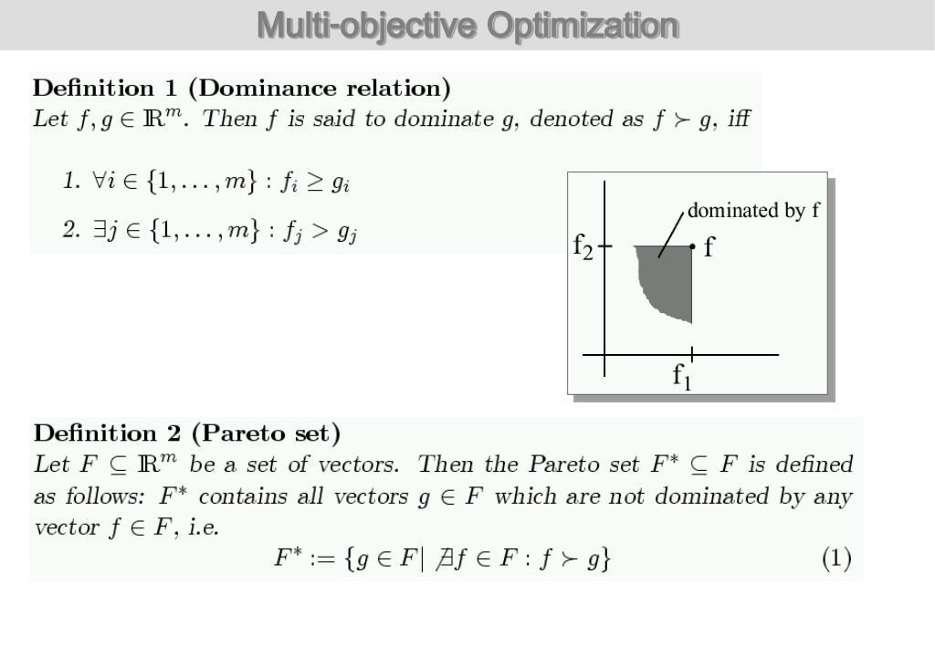 PPT - Evolutionary Methods in Multi-Objective Optimization