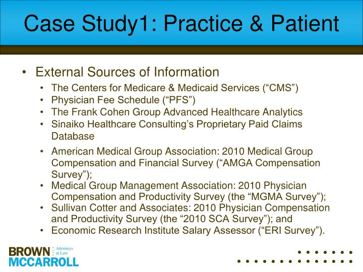 Case Study1: Practice & Patient