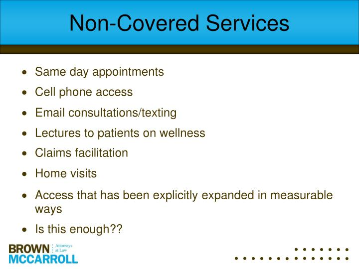 Non-Covered Services