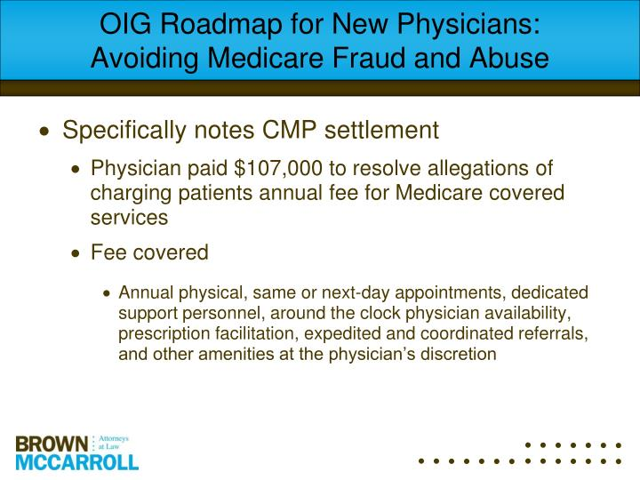 OIG Roadmap for New Physicians: