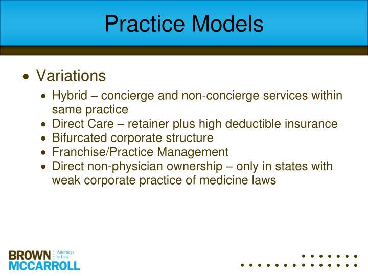 Practice Models