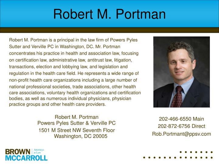 Robert M. Portman