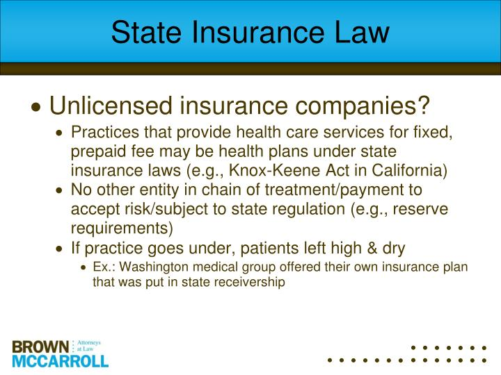 State Insurance Law