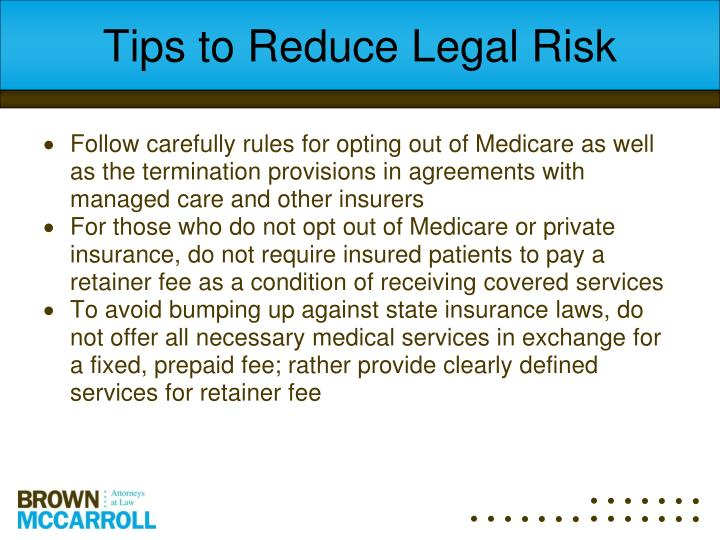 Tips to Reduce Legal Risk