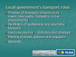 local government s transport roles