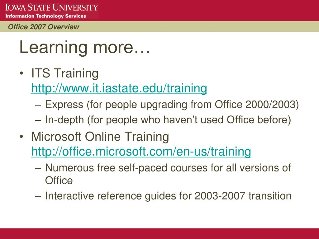 PPT - Office 2007 Overview PowerPoint Presentation - ID:4736746