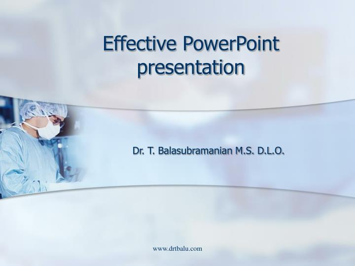 effective powerpoint presentation n.