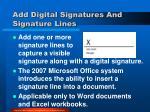 add digital signatures and signature lines