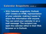 calendar snapshots cont
