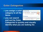 color categories