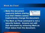 mark as final