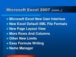 microsoft excel 2007 cont