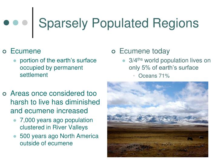 Sparsely Populated Regions